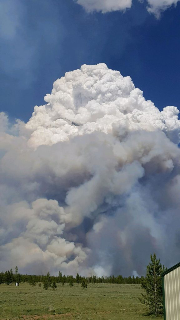 Badger Creek Fire doubles in size again as aerial support